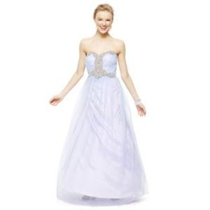 City Triangles With Rhinestones Prom Dress Lilac